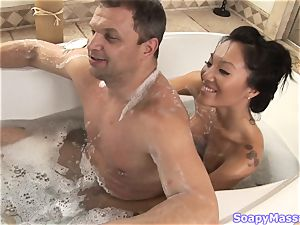 japanese sweetie Asa Akira as the Soapy massage Parlour