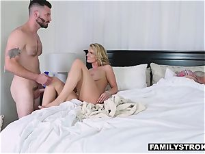 fucky-fucky starved mom takes her step son-in-law for a quickie