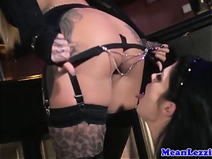 curvy Lucia love likes Angel Long's rosy gash