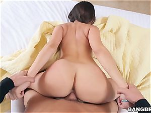 innate beauty Ashley Adams bouncing on a rock hard spunk-pump