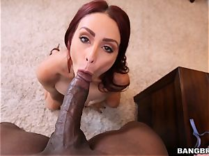 Monique Alexander feasts on a phat stiffy