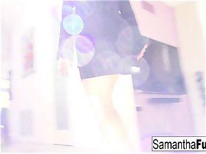 James Deen showcases up on set and romps Samantha Saint