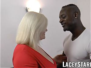 LACEYSTARR - grandma rectally creampied with big black cock