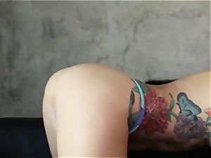 Karma Sn 2 with handsome tattooed babe Monique Alexander