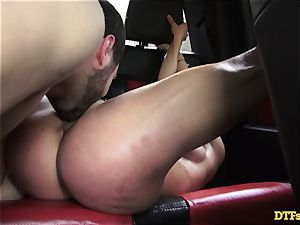 James Deen takes milf Cherie Deville for a rail on his wood in the car
