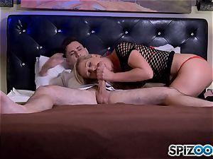 salami globbering blond cougar Cherie Deville
