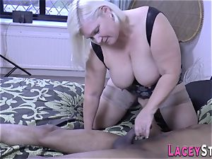 breast banging Lacey Starr