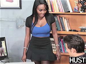 ebony ultra-cutie Oso ultra-cute honeypot plumbed by dangled employee