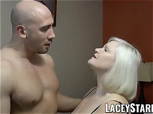 LACEYSTARR - GILF tempts giant dicked grizzly into nailing