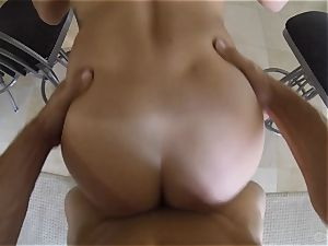 cute Keisha Grey poked point of view