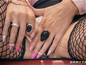 Brittany Andrews fucked in fishnets