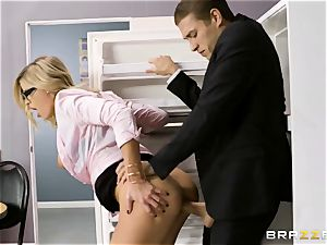 Office pornography with horny new assitant Jessa Rhodes and her gigantic manager Keiran Lee