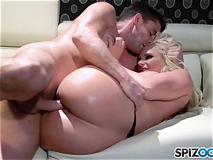 luxurious rump platinum-blonde stunner jizz guzzler Phoenix Marie plumbed deep by huge stiffy