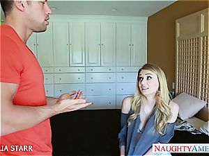 stunning blond Natalia Starr given a decent poking