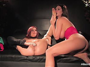 Alison Tyler and Jayden Cole nail on the sofa