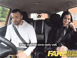 faux Driving school Jasmine Jae completely naked hump in car