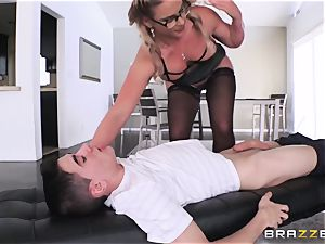 youthfull unexperienced college girl gets his beef whistle bj'ed by brutish big-chested teacher Phoenix Marie