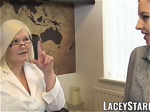 LACEYSTARR - GILF heals patient with sapphic ejaculation