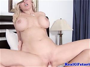 massive titted light-haired housewife liking pipe