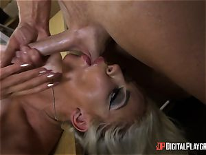 Nicolette Shea takes a beef whistle deep in her muffhole