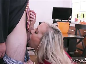 Mature mom very first time Halloween exclusive With A three way