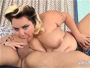 cute bbw Jade Rose ravages her bf