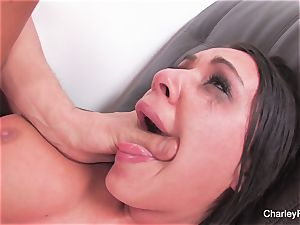 black-haired beauty Charley gets a raunchy fuckin'