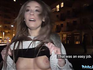 Public Agent Cheeky brit Carmel Anderson gets a Poundin