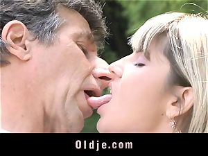 Gina Gerson gets ass-fuck from an aged dude