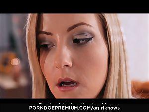 A nymph KNOWS - Francys Belle enjoys lezzie assfuck play