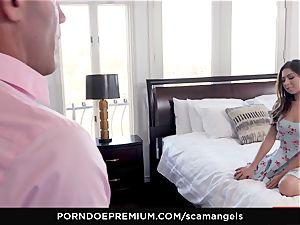 SCAM ANGELS - Gina Valentina group fuck-fest with torrid honeys