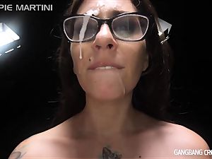 wondrous sex industry stars getting group-fucked by random strangers