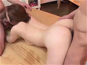 Doremi Miyamoto passionate sex With 2 wolves