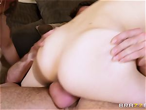 gigantic Mobs milf Nina Elle trains her stepson how to behave with youthfull gals