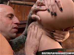 light-haired hotty Lexi Belle shows off how to ride