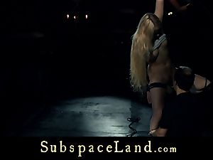 marionette woman blond pleasured and disciplined in subjugation
