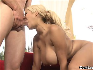 huge-titted Latina Bridgette B is penetrated by a huge weenie
