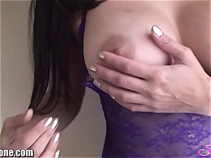 SunnyLeone Sunny Leone in uber-sexy purple undergarments