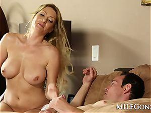 MILFGonzo red-hot ash-blonde Jennifer hottest pounding her step son