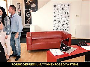 exposed casting - Taissia Shanti drilled hard in her bootie