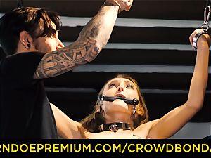 CROWD bondage small slave nymphomaniac fetish group hookup