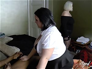 AgedLovE big-boobed motel Maid Lacey Starr threeway