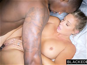 BLACKEDRAW blondie trophy wife Cucks Her hubby With big black cock