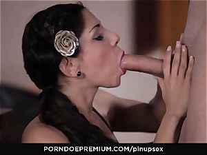 PINUP hook-up - passionate chisel inhaling and rear end fashion fuck-a-thon