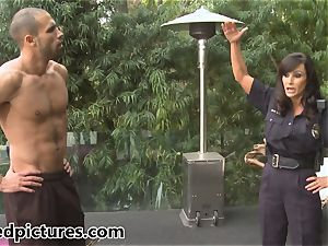 huge-chested cop Lisa Ann gives out her manstick punishment