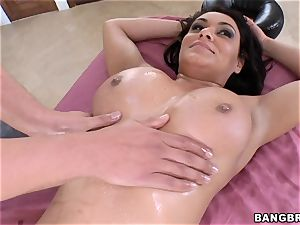 Charley chase bouncing on a gigantic shaft