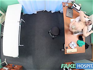 fake clinic Flirty tatted minx requests hasty fucky-fucky