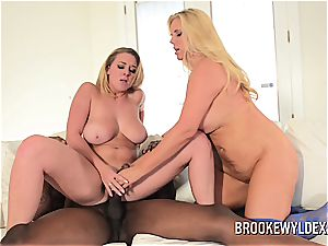 mommy and Step daughter Take Turns on ebony man sausage