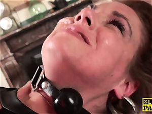 redhead british slave ass-fucked and bound