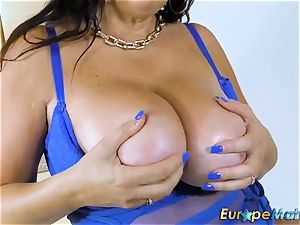 EuropeMaturE huge-chested Mature Lulu obese and yam-sized hooters